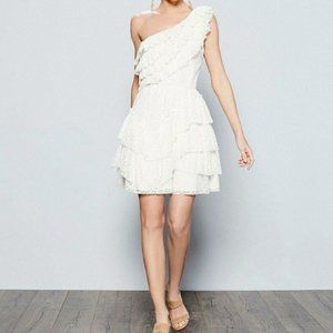 NEW Chelsea & Violet White One Shoulder Lace Dress